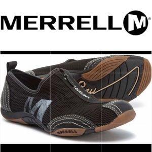 Merrell Barrado black zip slip on shoes